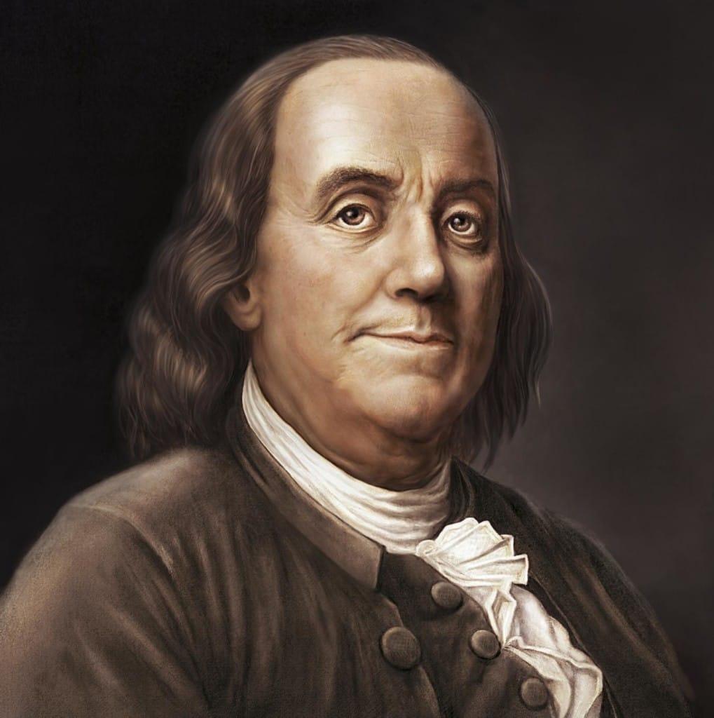 Американский писатль Бенджамин Франклин