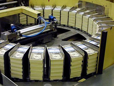 Включенный печатный станок в США