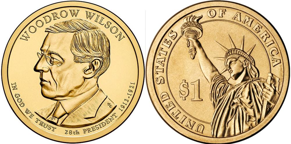 Так выглядит однодолларовая монеа