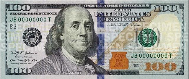 Новый образец 100 долларов имеет серьезную защиту от подделки