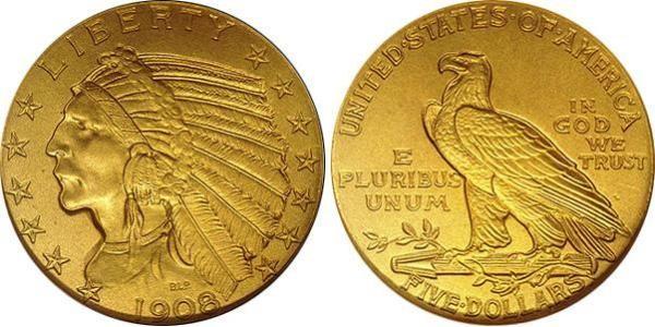 В США выпускают коллекционные золотые долларовые монеты