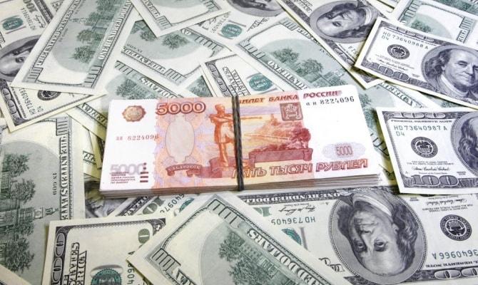 Рубли падает по отношению доллара