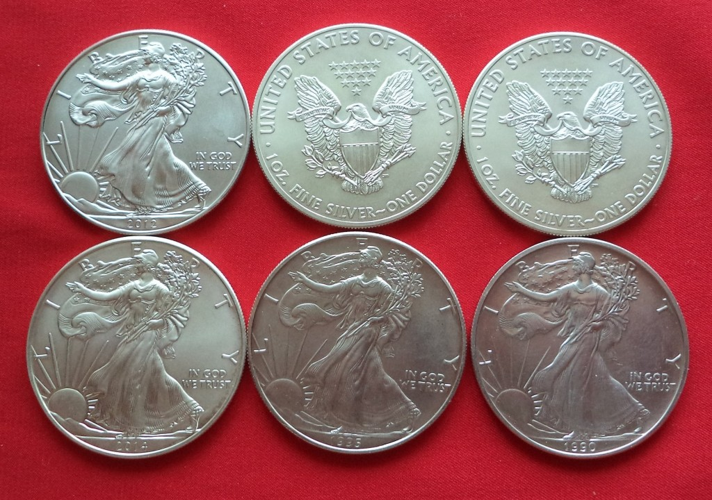Старинные серебряные монеты Северной Америки