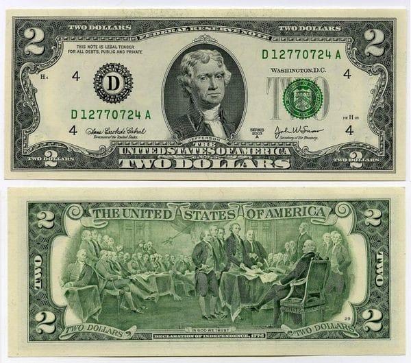 Внешний вид долларов США